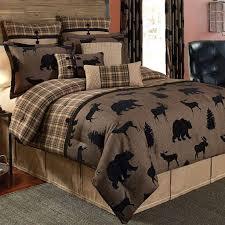 Rustic Comforter Sets Bedroom Rustic Star Bedding Set Curtain Panel Sky Browning