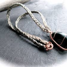 braided hemp necklace images Raw smoky quartz necklace wire wrap brass from anarkoz art jpg