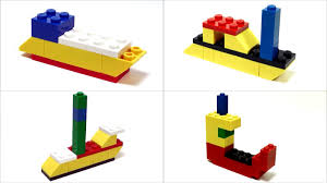 simple lego boats how to build youtube