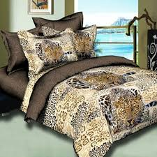 3d black and gold leopard bedding set 100 polyester size full