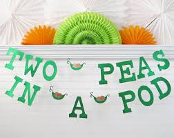 two peas in a pod baby shower decorations two peas in a pod etsy