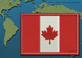Flag Of Canada Design Embroidery Flag Of Canada Rectangle With Colour Trim By