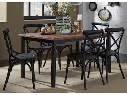 liberty furniture vintage dining series 7 piece rectangular leg