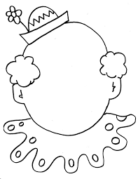 clown coloring pages circus clown face coloring sheet kids