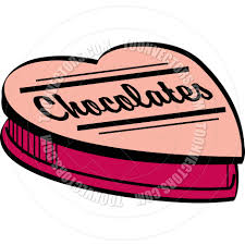 cartoon valentine chocolates vector illustration by clip art guy