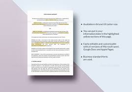 11 purchase agreement templates u2013 free sample example format
