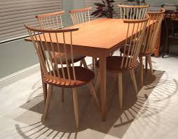 Custom Made Dining Room Furniture Handmade Shaker Cherry Dining Table Custom Made In Vermont