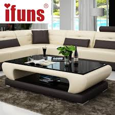 sofa center table glass top living room ifuns living room furniture modern new design coffee