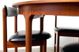 danish teak dining room table mid century round or oval modern