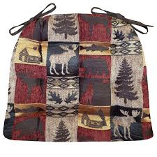cabin and wildlife collages in three patterns bring outdoor style