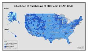 Zip Code By Map Ebay Customers By Zip Code Map