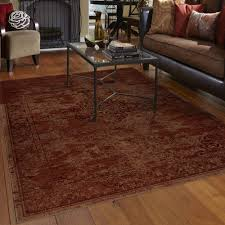 Area Rugs Brown Orian Rugs Faded Damask Traditional Area Rug Walmart Inside