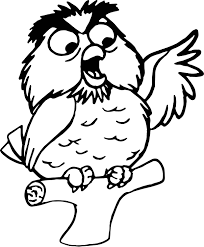archimedes speak owl coloring pages wecoloringpage