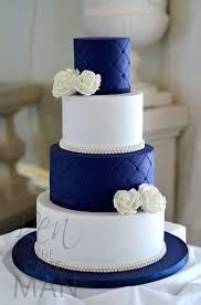 wedding ideas blue and white wedding cake design wedding cake
