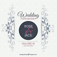wedding invitations vector ornamental wedding invitation vector free