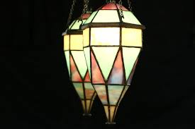 Stained Glass Light Fixtures Sold Back Bar Top 1905 Antique With Mirror Stained Glass