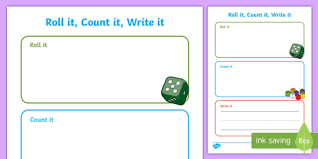 it count it write it number activity sheet worksheet