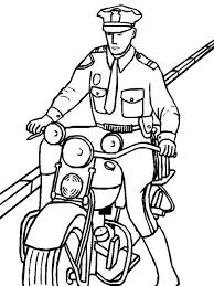 police officer riding motorcycle coloring netart