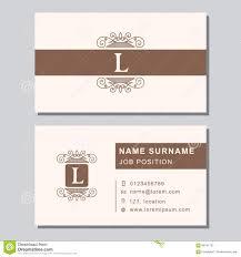 Biz Card Template Modern Trendy Business Card Design Template Stock Vector Image