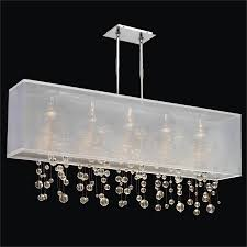 Crystal Sphere Chandelier Rectangular Shaded Chandelier With Smooth Crystal Balls Omni