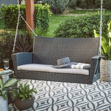 Grey Wicker Patio Furniture by Patio Astonishing Wicker Patio Swing Wicker Swings For Sale