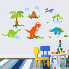 lovely dinosaur paradise wall art decal sticker decor for kid s lovely dinosaur paradise wall art decal sticker decor for kid s nursery room home decorative murals posters wallpaper stickers vinyl stickers for walls