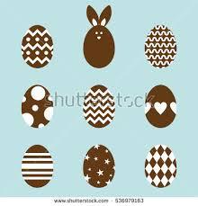 Chocolate Easter Egg Decorating Kit by Easter Egg Vector Design Set Download Free Vector Art Stock