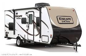 best light travel trailers 2019 k z spree escape hybrid e180rbt for sale bay city michigan