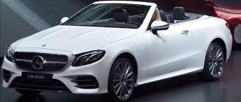 mercedes car image mercedes e class cabriolet premiere in geneva 2017