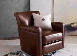 Pottery Barn Leather Chair Irving Leather Swivel Armchair Pottery Barn Irving Leather Chair