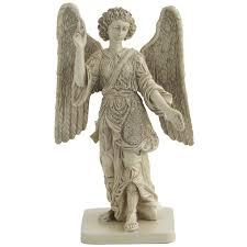 archangel raphael healing small stone statue christian art