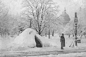Overhead Door Of Washington Dc by The Great Blustery Blizzard Of March 1888 Streets Of Washington