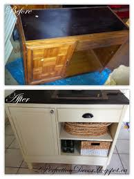 upcycled vintage desk into kitchen island storage by 2perfection