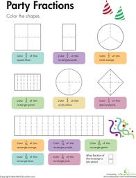 fraction worksheet 3rd grade worksheets