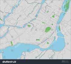 Map Of Montreal Vector Map Montreal Stock Vector 35531632 Shutterstock