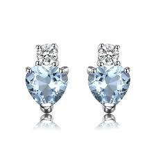 aquamarine stud earrings azure aquamarine stud earrings march birthstone
