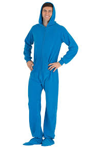 royal blue hoodie one hooded footed pajamas one