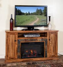 Tv Stands With Electric Fireplace Sd 3488ro 60r 60 Sedona Rustic Oak Fireplace Tv Stand Room