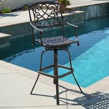 Outdoor Swivel Bar Stool Swivel Patio Bar Stools You Ll Wayfair