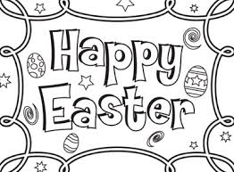 happy easter easter coloring