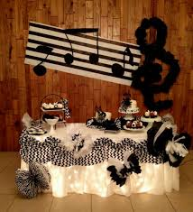 music themed decorating ideas for party best decoration ideas