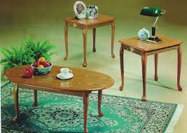 queen anne end tables roses flooring and furniture 3pc oak queen anne coffee end table set