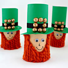 kids craft toilet paper leprechauns view from the fridgeview