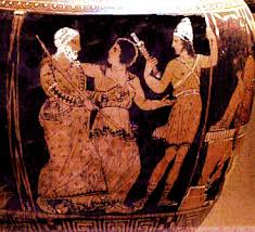 Ancient Greek Vase Painting Ancient Greece Theater Masks Actors