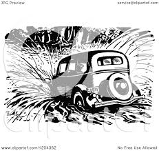 vintage cars clipart clipart of a vintage black and white vintage car crashing into