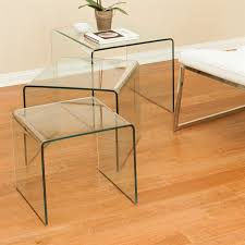shop best selling home decor ramona 3 piece clear accent table set