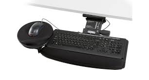 Computer Desk Without Keyboard Tray Shop Ergocentric Chameleon Standard Keyboard Tray Human Solution