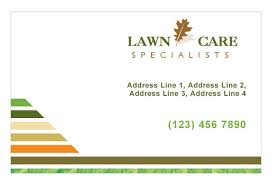 Lawncare Business Cards Lawn Care U0026 Mowing Print Template Pack From Serif Com