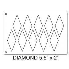 martellato 51ec6018 plastic mini eclairs template 59x39 60x18mm