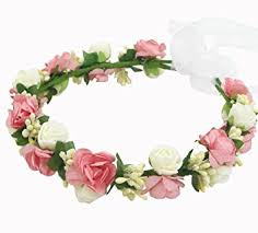 headband flowers multicolor simple foam rattan wedding flower girl